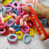 90 Pcs/ Pack Elastic Candy Color*Baby Girls' Towel Hair Ropes Kids' Hair Band BN