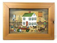VTG Original Folk Art Painting Shirley McPherson My Playroom Oregon,IL Toys Doll