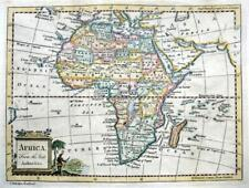 AFRICA BY THOMAS KITCHIN c1777  GENUINE ANTIQUE COPPER ENGRAVED  MAP