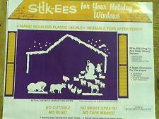 Christmas Decoration Clings Bethlehem Stable Scene Nativity Windows & more  NEW
