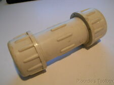 """New 1"""" PVC Compression Expansion Repair Pipe Fitting, Sch 80, Neoprene Seal"""
