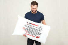TO MY BOYFRIEND LOVE TEXT PILLOWCASE BEDROOM HOME DECOR GREAT GIFT PRESENT