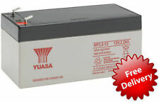 YUASA 12 volt 3.2ah / 2.8 ah RECHARGEABLE ALARM/ SECURITY BATTERY