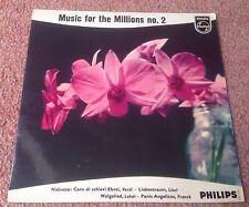 PHILIPS MINIGROOVE 422 526 NE MUSIC FOR THE MILLIONS NO.2 1E/2E HOLLAND PIC EXC