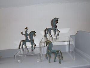 Vintage Frederick Weinberg Style Brass /bronze Horses X3