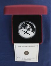 "2009 Canada Silver Proof $1 coin ""100 Years of Flight"" in Case with COA   (A2/5)"