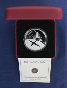 """2009 Canada Silver Proof $1 coin """"100 Years of Flight"""" in Case with COA"""
