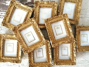 Bundle Of 9 x Small Gold Ornate SIA Picture Frames NEVER BEEN USED