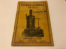 Cole's Power Models Accessories Metals Catalog No. 16 Charles A. Cole
