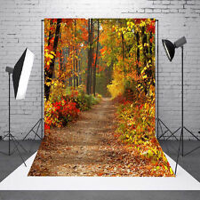 3x5FT Vinyl Photography Autumn Fall Forest Photo Studio Prop Background Bac
