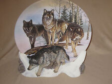Wolf collector plate Lords Of The Tundra Al Agnew Hamilton 3-D