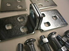 """Center Hole Hasp 5-1/2"""" High Security Steel Hasp w/ Backer Plates & Bolts"""