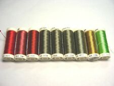 SULKY Thread Lot - Lot of 9 Spools - Sulky Solid Rayon Threads