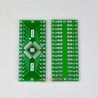 20pcs TQFP/LQFP/EQFP/QFP32 0.8mm to DIP32 Adapter PCB Board Converter SMD F46A