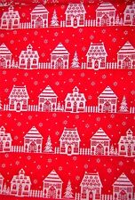 craft fabric  remnant material quilting  1 metre xmas