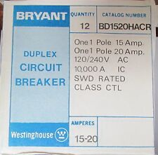 WESTINGHOUSE BRYANT BD1520HACR Duplex Single Pole 15/20 BD BRD Breaker BD1520
