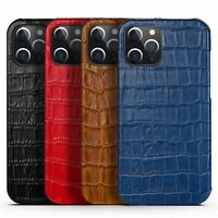 For iPhone 11 12 Pro 7 8 Plus XS Max XR X Case Shockproof Genuine Leather Cover