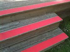 Anti Slip Tape For Decking High Grip Red Self Adhesive 100mm X1m