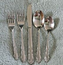 Service for 4 Stainless Silverware / Flatware -  cabins, campers, dorm rooms ...