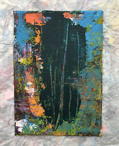 HASWORLD ORIGINAL PAINTING CANVAS Abstract Expressionism Contemporary green art