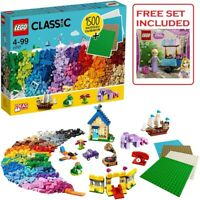 LEGO 11717 Classic Bricks Includes Pink orange Purple Etc & 4 Plates + FREE Set