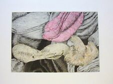 TULIPMANIA 12 with pink/peach/cream Chine-collé  -LIMITED EDITION SIGNED ETCHING