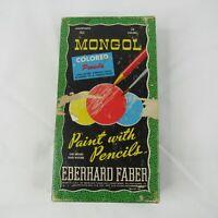 Mongol Colored Pencils Eberhard Faber 743 Vintage 24 Colors 1950 Craft