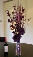 95 cm Cream & Plum Dried /artificial Flower Bouquet Conservatory, lounge gift