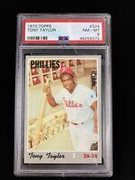 1970 Topps #324 Tony Taylor Philadelphia Phillies PSA 8