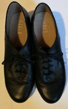 Bloch Techno Tap Shoes, Black Leather Upper&Sole Cotton lining Women's 111/2,
