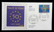Za217* Enveloppe 1er jour  2007 n°4030 traité de Rome