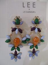 Lee By Lee Angel Mutli Color Cabochon Chandelier Earrings NWT $48