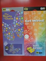 2 RARE BEST BUY  UK GIFT CARDS. NO VALUE. COLLECTORS ITEM.  LOT 6
