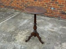 ANTIQUE VICTORIAN OVAL WALNUT LAMP / WINE TABLE TABLE WITH SCALLOPED EDGE