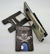 Union Pipefitters, Aluminum Wallet/Credit Card Holder, RFID Protection, Black