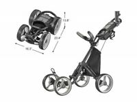 Caddytek Superlite Deluxe Qaud V8 4 Rad Golf Push Trolley schwarz Neu 2020