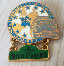 PIN'S RALLYE D'ANTIBES TEAM DIAC MICHELIN RENAULT CLIO WILLIAMS FRANCE 1996