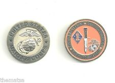 MARINE CORPS 3RD BATTALION 7TH MARINES  CHALLENGE COIN