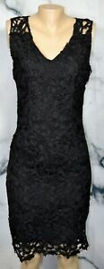 T TAHARI NEW NWT Black Lace Sleeveless Dress 8 Lined Lined Polyester Cocktail