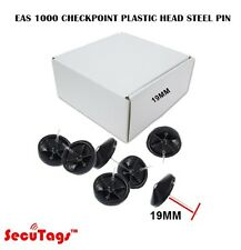 Eas 1000 Checkpoint Plastic Head Steel Pin 19Mm Black