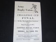 1954-55 RUGBY UNION FINAL 1ST BN THE SOUTH WALES BORDERS v DEPOT & T.E. R.A.M.C.