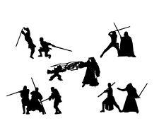 Die Cut Outs Silhouette Starwars Jedi VS Sith shapes cards scrapbook Fairy jar