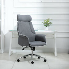 Vinsetto Executive Office Chair Rocking Chair w/Padded Seat Adjustable Back Grey