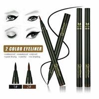 Wasserdichte Make-up Eyeliner Eye Liner Bleistift Liquid Pen Schwarz Braun E7T7