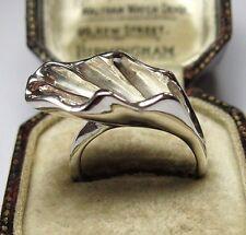 VINTAGE Art Nouveau Stile 925 Argento Sterling Grande Lily Gioielli Anello 7 o