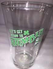 """New St Patrick'S Day 16oz Beer Glass Irish Shamrock """"Let's Get Ready To Stumble"""""""