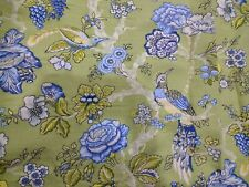 NWOT Waverly Casablanca Birds Floral Lined Curtains with Ties Set of 2