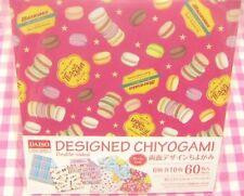 DAISO / Macaron Design Double-sided Origami Paper / Japan  Ice Cream Rainbow