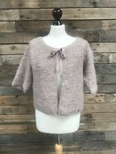 WHITE STUFF Ladies Dusky Lilac Pink Nylon Mohair Tie Jumper Cardigan Size 8