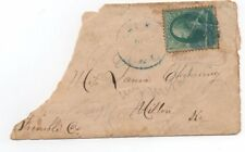 United States used on cover 184 blue ink star fancy cancel